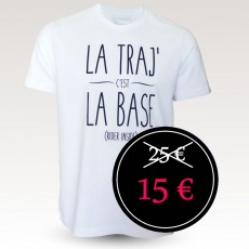 Tee-shirt coton VTT : Band of Riders La Traj blanc