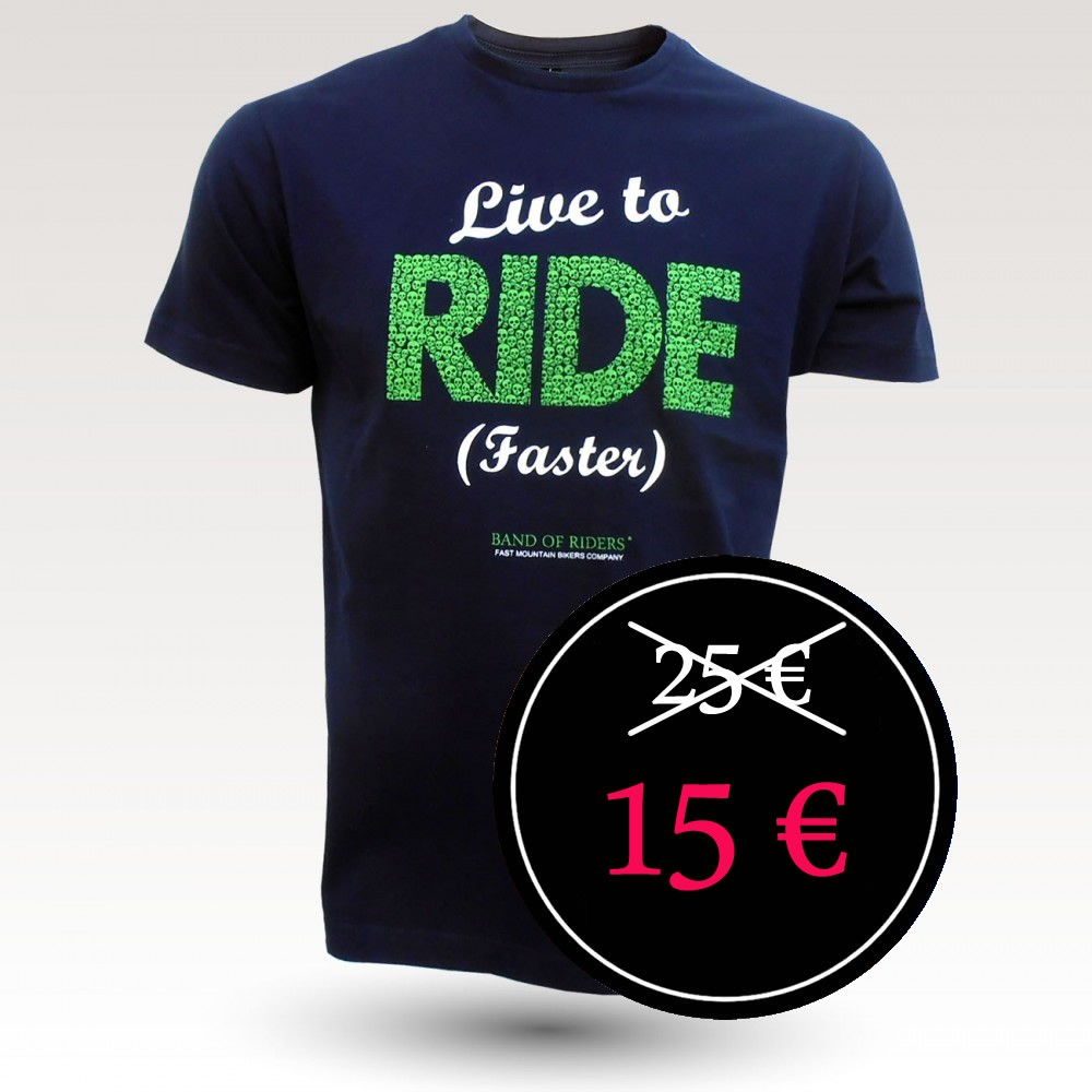 Tee-shirt coton VTT : Band of Riders Alive Navy (Live to Ride Faster)