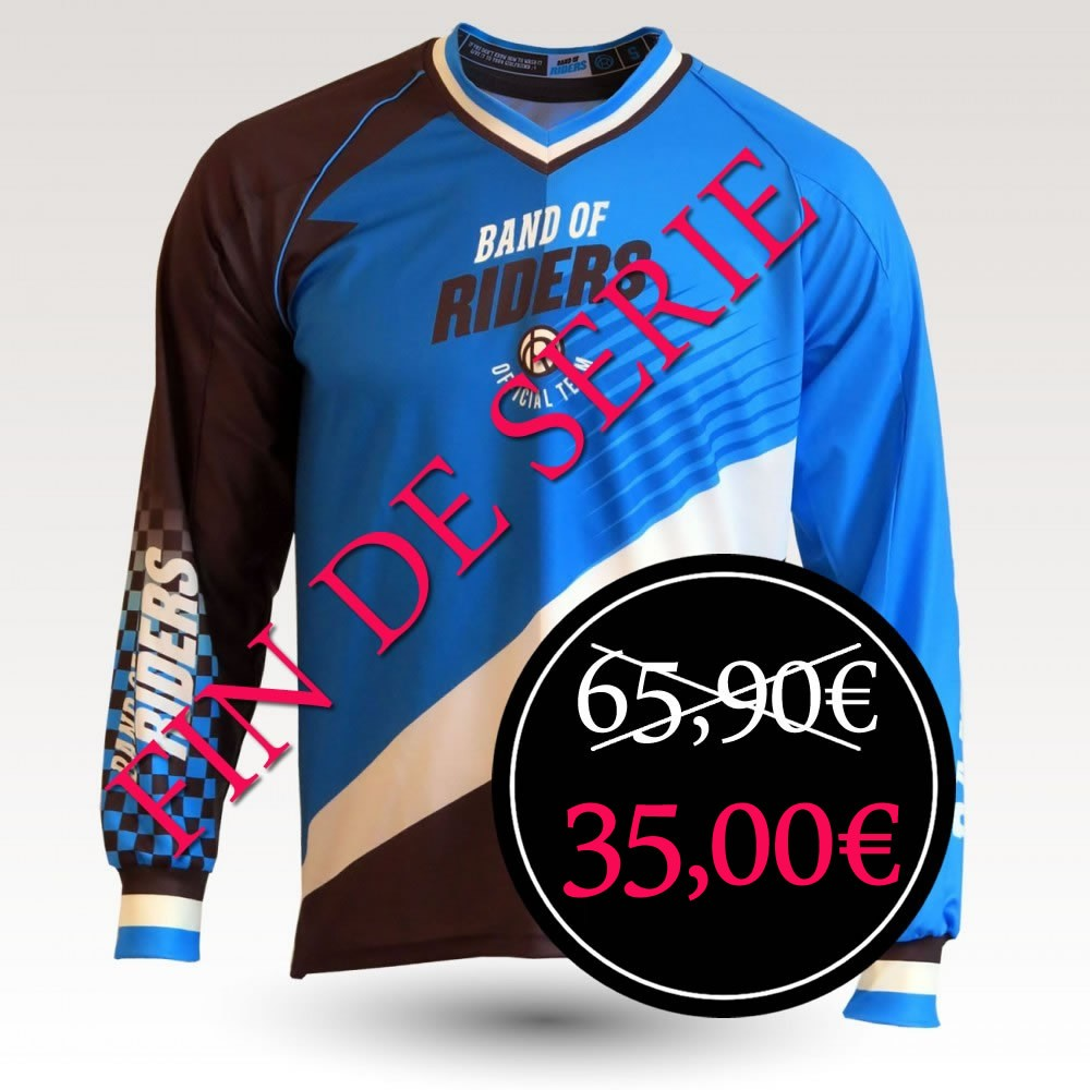Team Electric is an Original Mountain Biking Jersey designed by Band of Riders. Long sleeve, technical fabric and most comfortable jersey for enduro and downhill cycling