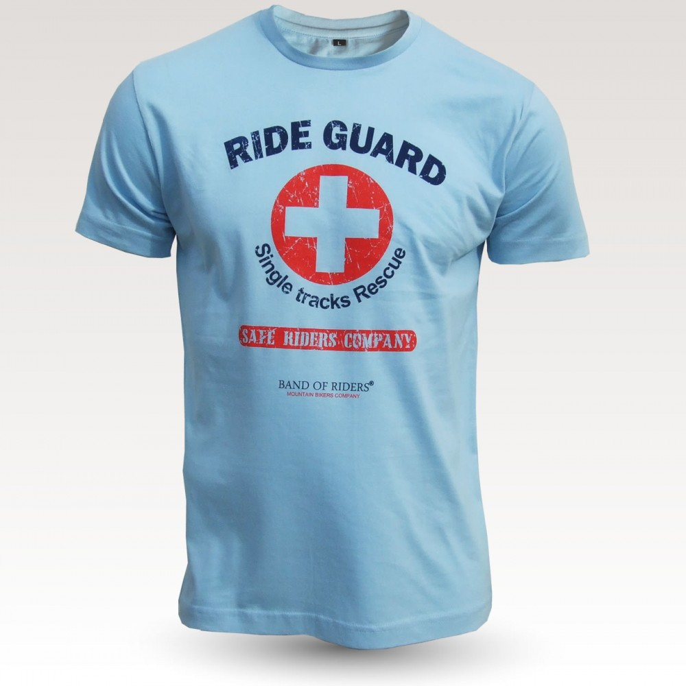 MTB Coton Tee-shirt : Band of Riders dude rideguard sky