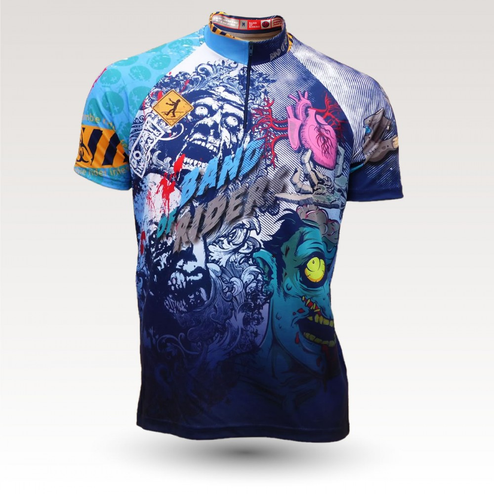 short sleeves original MTB downhill DH jersey, technical fabric jersey, most confortable MTB jersey,  zombie