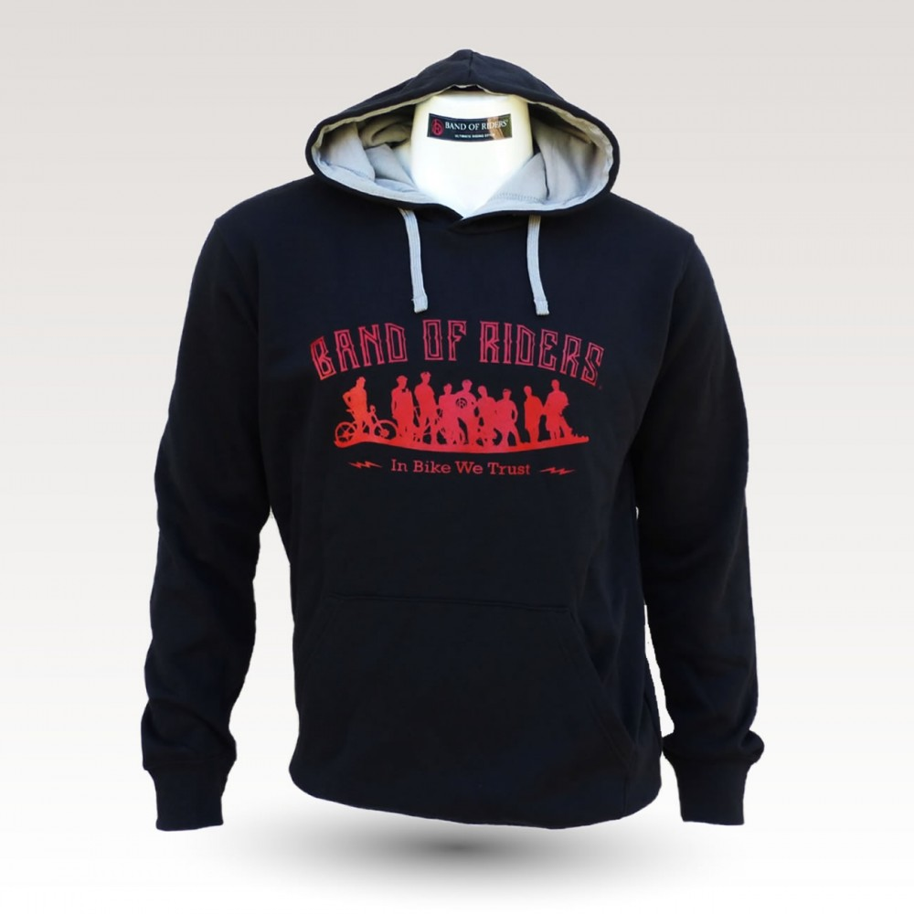 Sweat shirt VTT Band of Riders Normandy noir rouge
