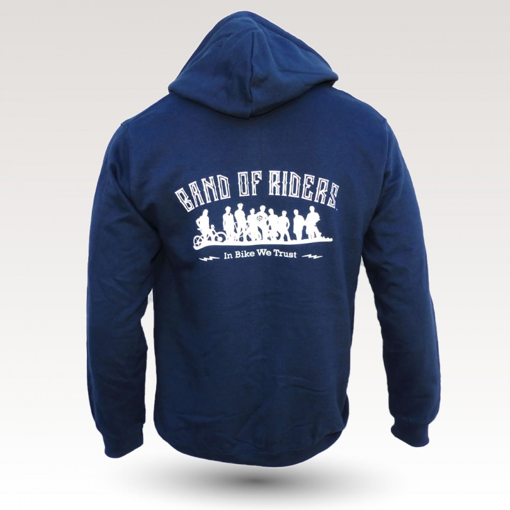 Sweat shirt VTT Band of Riders Normandy Navy, zippé.