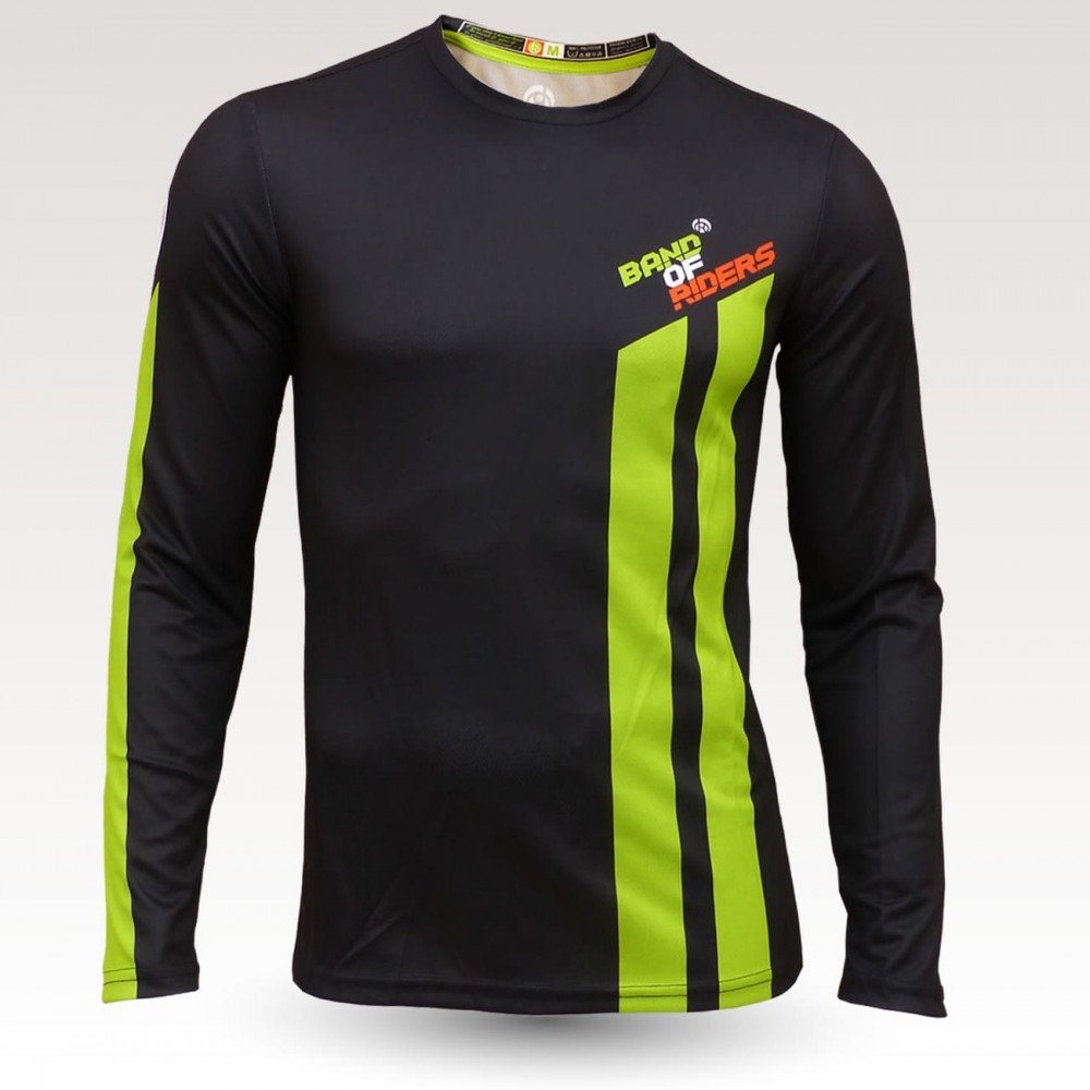 Cane jersey, long sleeve MTB Jersey, sublimated with zip and pocket, technical fabric jersey, confortable mtb jersey