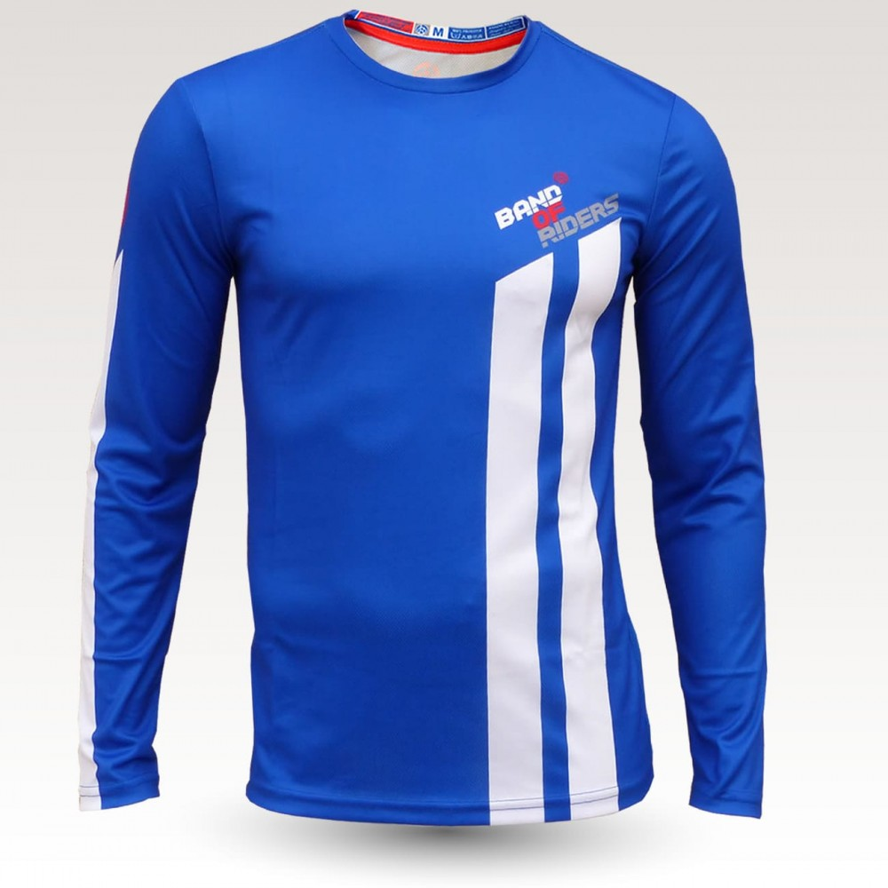 wizard jersey, long sleeve MTB Jersey, sublimated with zip and pocket, technical fabric jersey, confortable mtb jersey