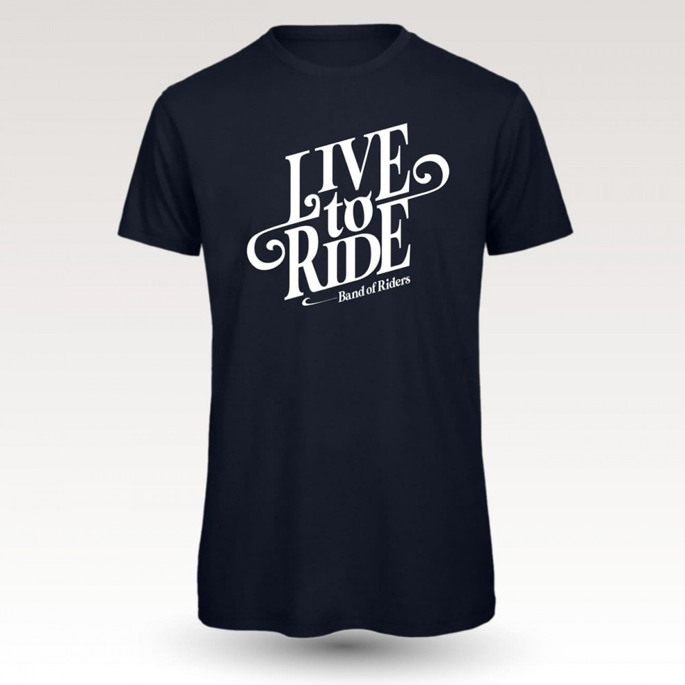 MTB Coton Tee-shirt : Band of Riders live to ride