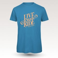 Tee-shirt coton VTT : Band of Riders  live to ride blue
