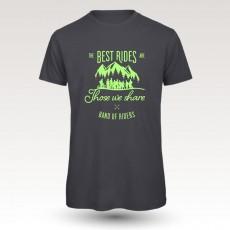 MTB Coton Tee-shirt : Band of Riders best rides dgrey