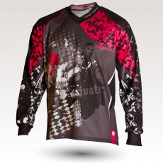 Trashy is an Original Mountain Biking Jersey designed by Band of Riders. Long sleeve, technical fabric and most comfortable jersey for enduro and downhill cycling