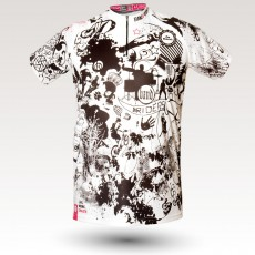 Band jersey, short sleeves MTB Jersey, sublimated with zip and pocket, technical fabric jersey, confortable mtb jersey