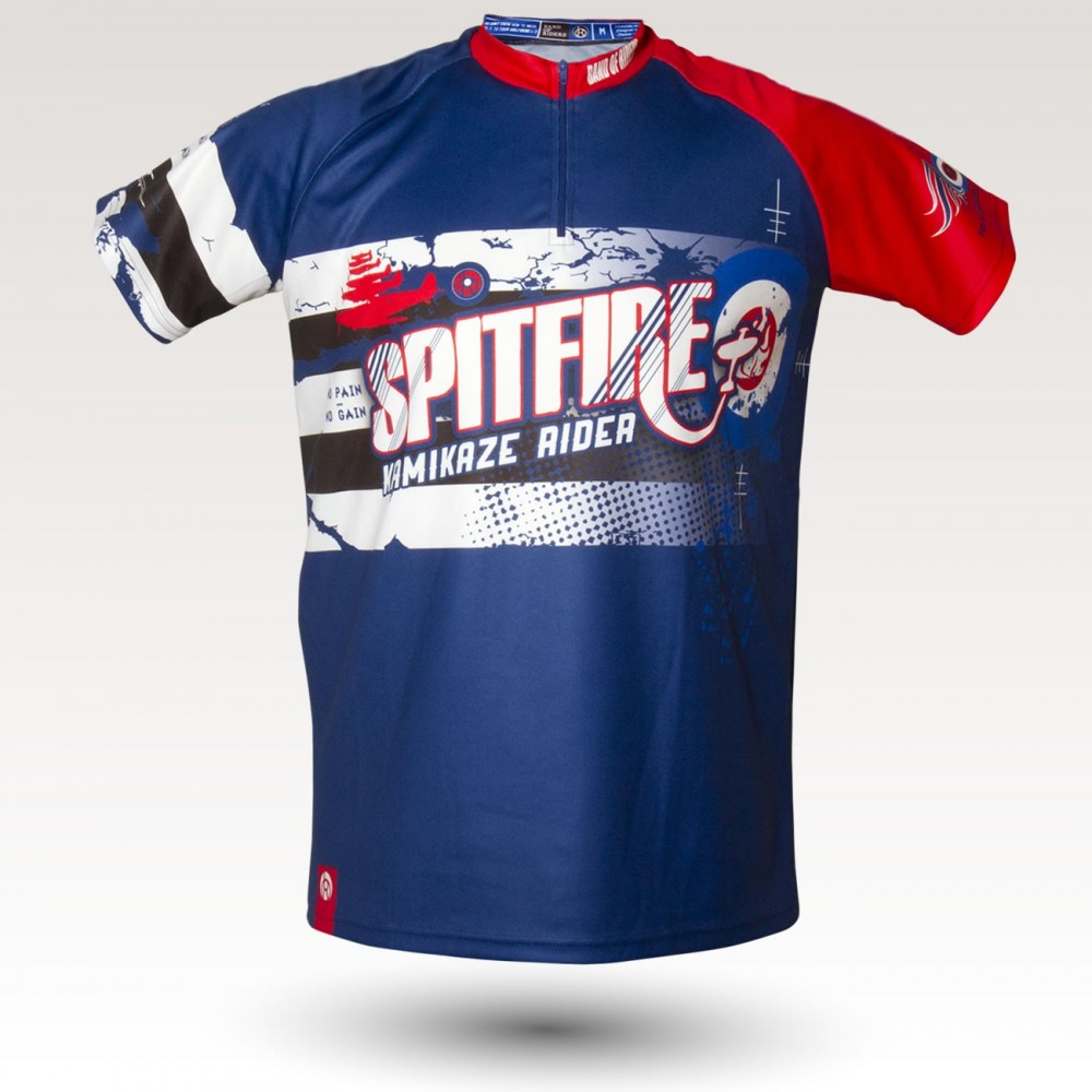 Fire jersey, short sleeves MTB Jersey, sublimated with zip and pocket, technical fabric jersey, confortable mtb jersey