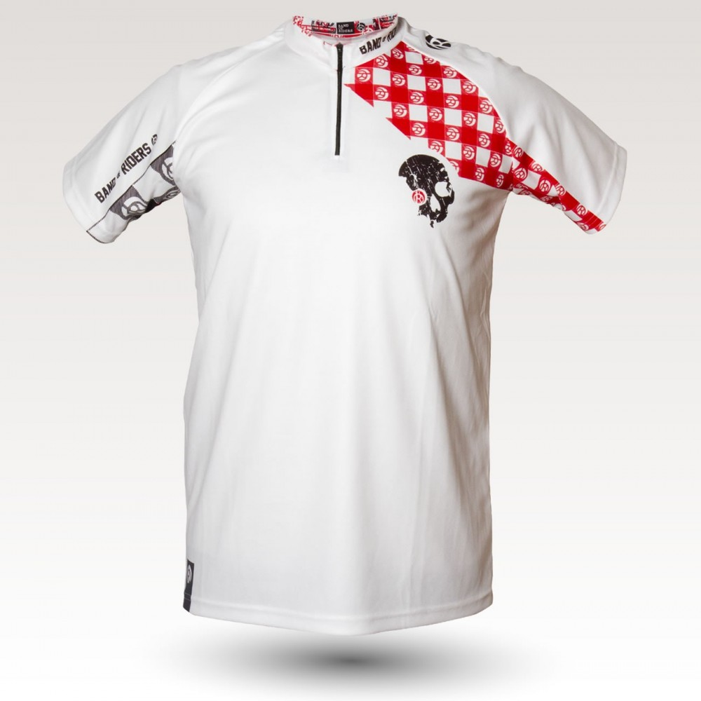 Racing Pig jersey, short sleeves MTB Jersey, sublimated with zip and pocket, technical fabric jersey, confortable mtb jersey