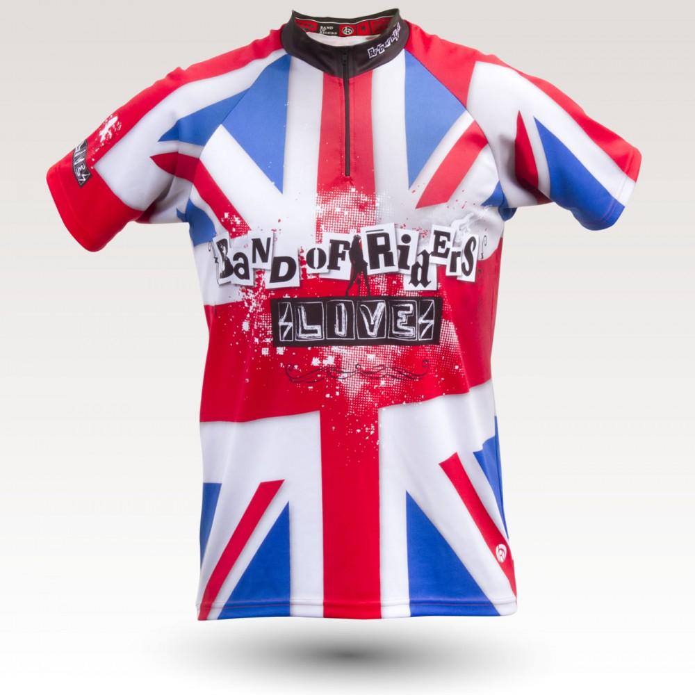 Maillot Jack, maillot VTT rando original à manches courtes sublimé avec zip et poche, maillot fibre technique, coupe ultra confort VTT
