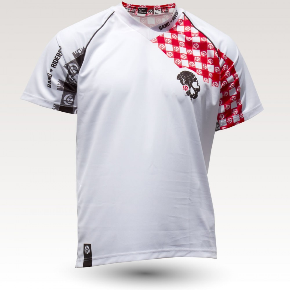 Racing Pig MC is an Original Mountain Biking Jersey designed by Band of Riders. Short sleeve, technical fabric and most comfortable jersey for enduro and downhill cycling