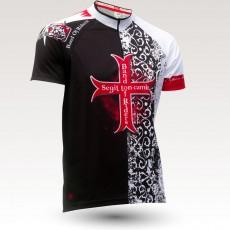 Maillot Templier, maillot VTT rando original à manches courtes sublimé avec zip et poche, maillot fibre technique, coupe ultra confort VTT