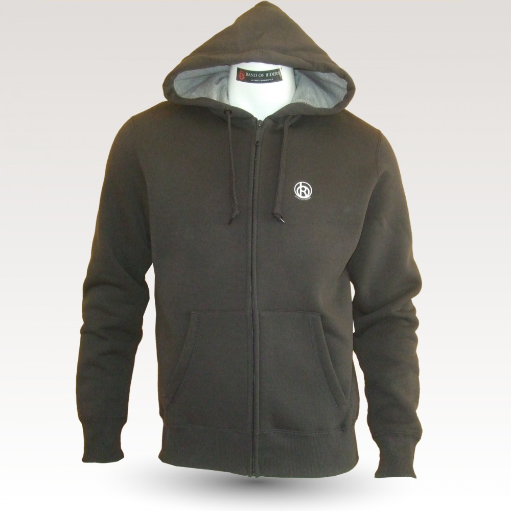 Sweat shirt VTT Band of Riders Normandy dark grey, zippé.
