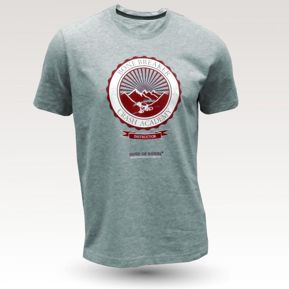 Tee-shirt coton VTT : Band of Riders Bonebreak oxford (gris chiné)