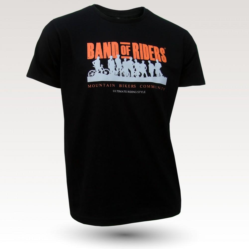 Tee-shirt coton : Band of Riders noir orange