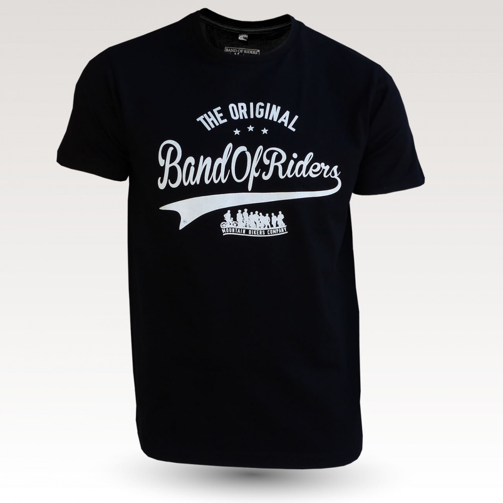 Tee-shirt coton VTT : the original Band of Riders noir et blanc