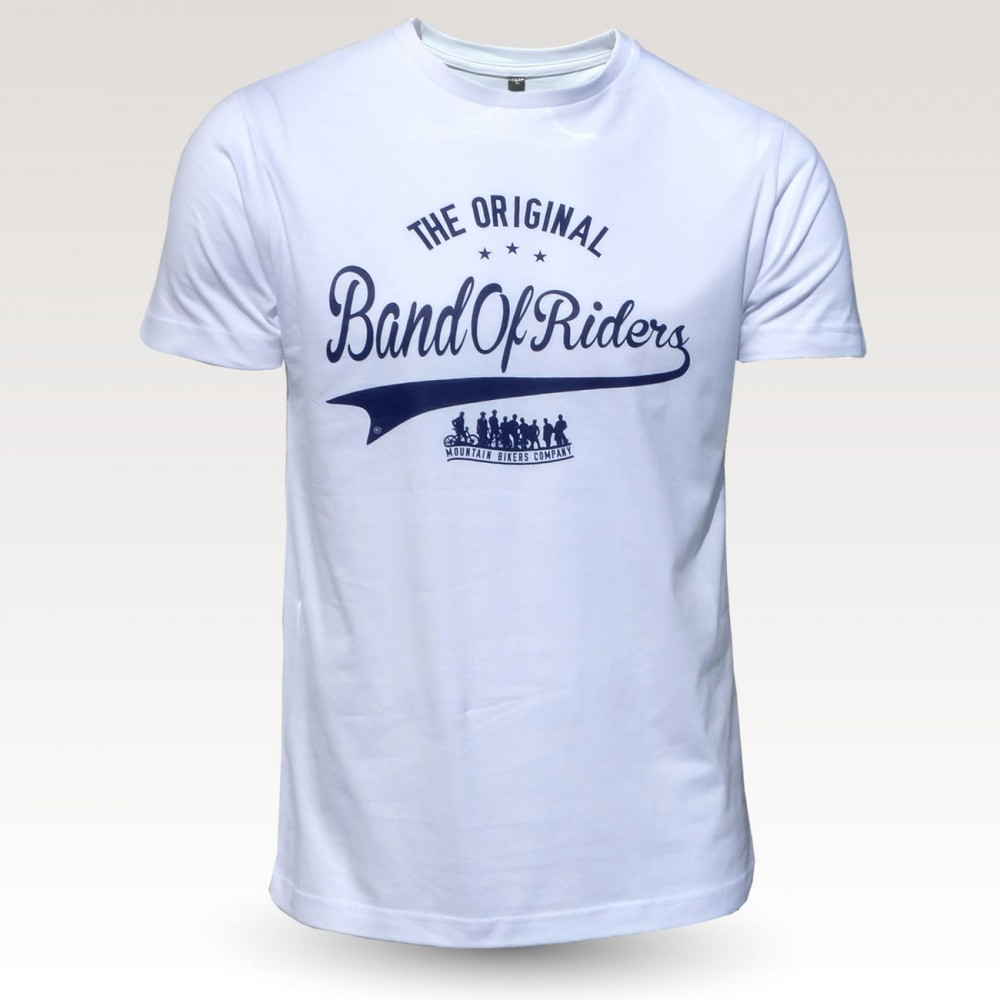 Tee-shirt coton VTT : the original Band of Riders blanc bleu