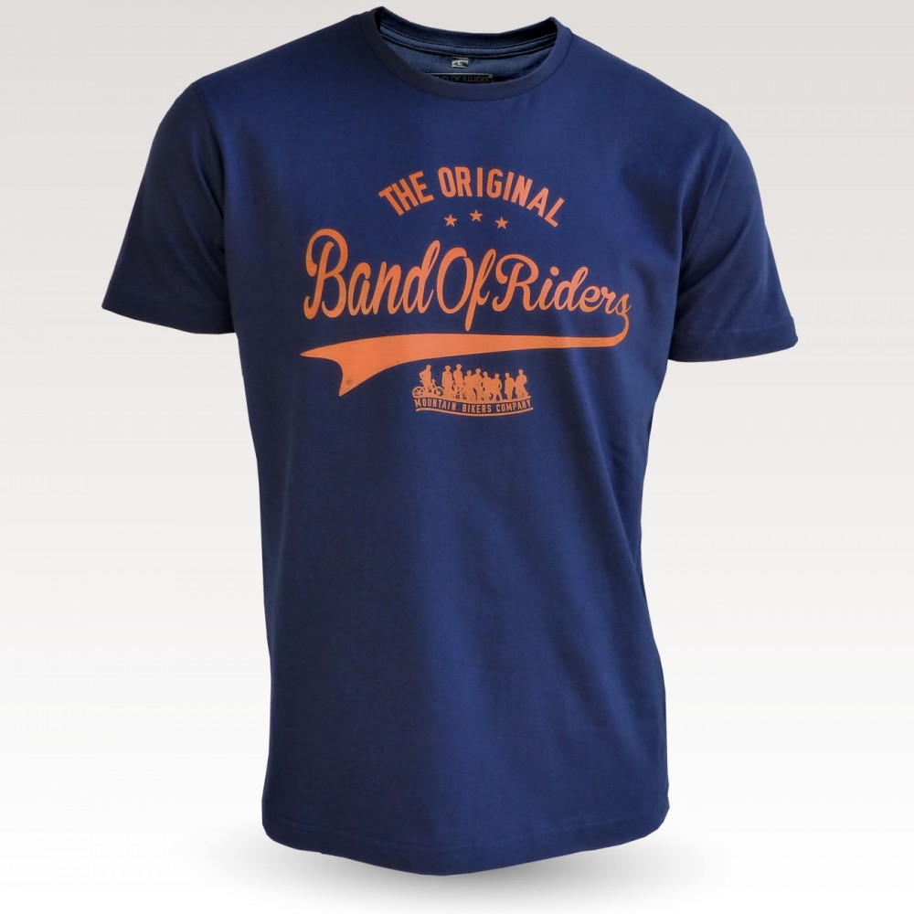 MTB Coton Tee-shirt : Band of Riders original navy orange