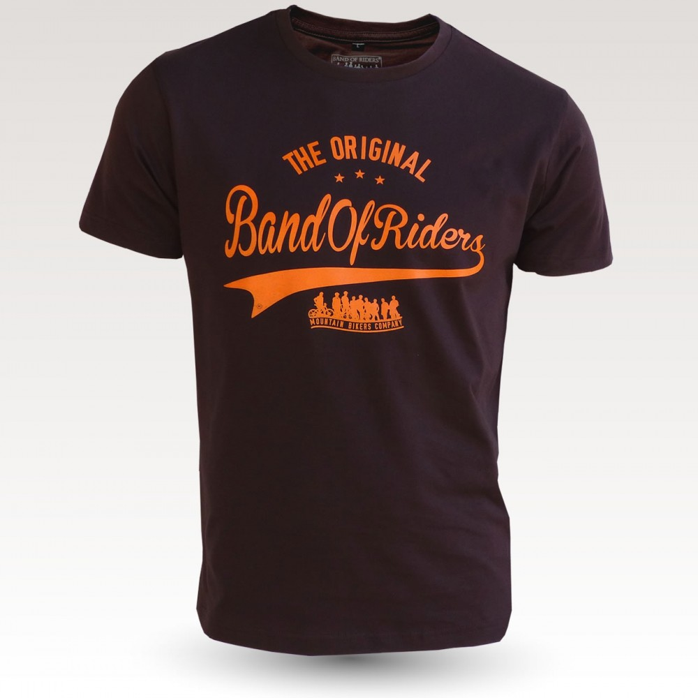 Tee-shirt coton VTT : the original Band of Riders brun orange