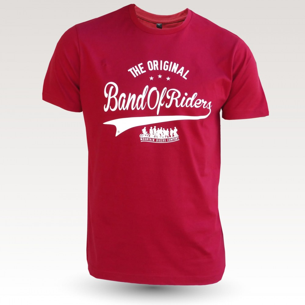 Tee-shirt coton VTT : the original Band of Riders rouge blanc
