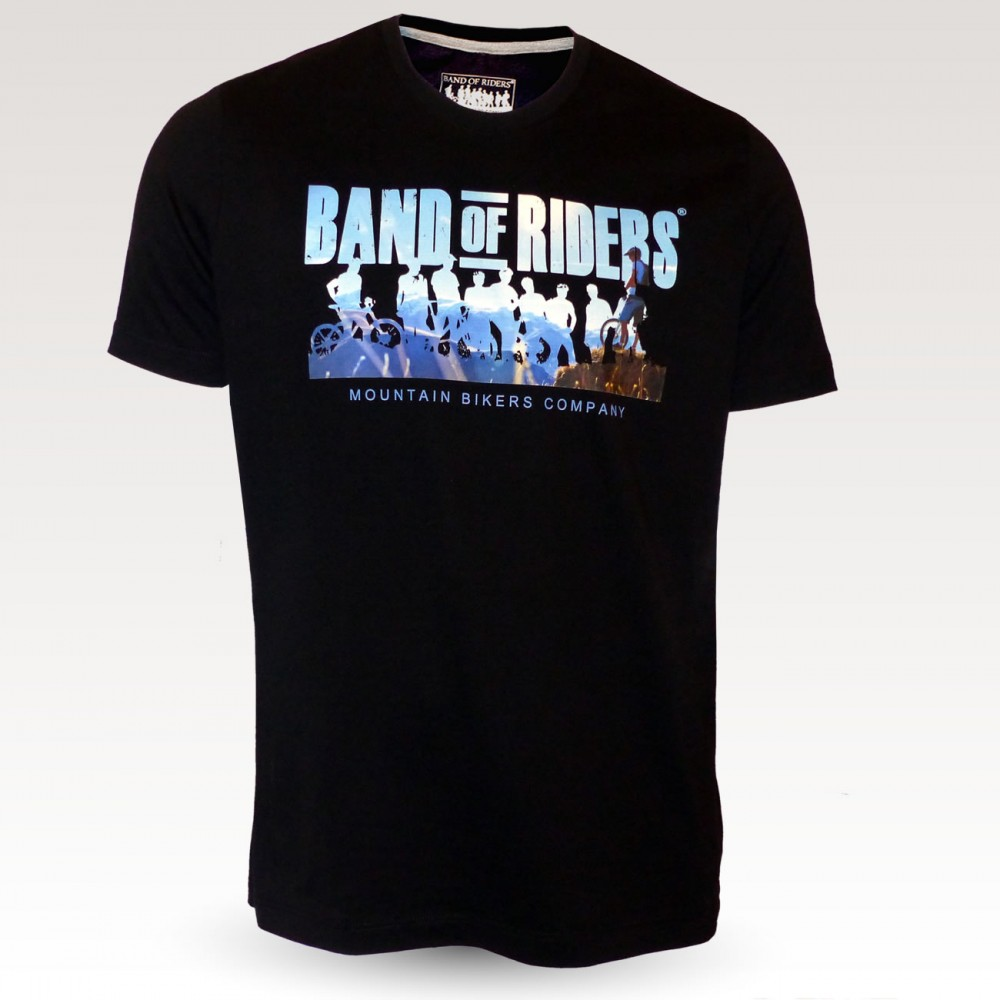 Tee-shirt coton VTT : Band of Riders Normandy Robin noir
