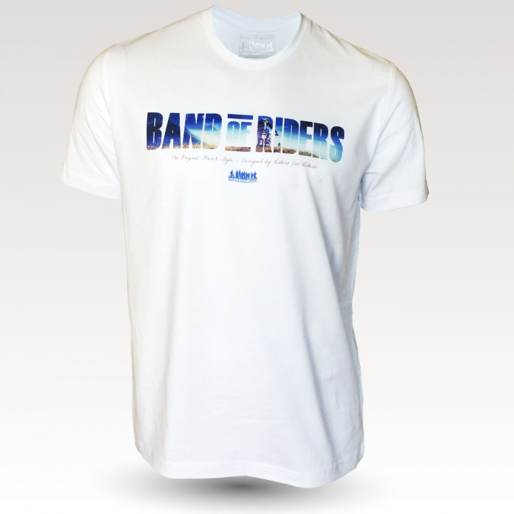 MTB Coton Tee-shirt : Band of Riders rider white