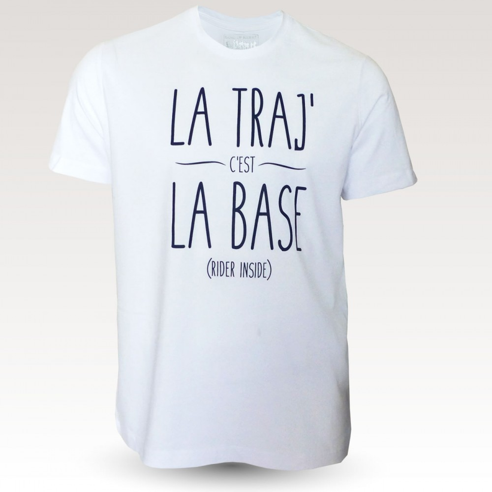 Tee-shirt coton VTT : Band of Riders La Traj blanc