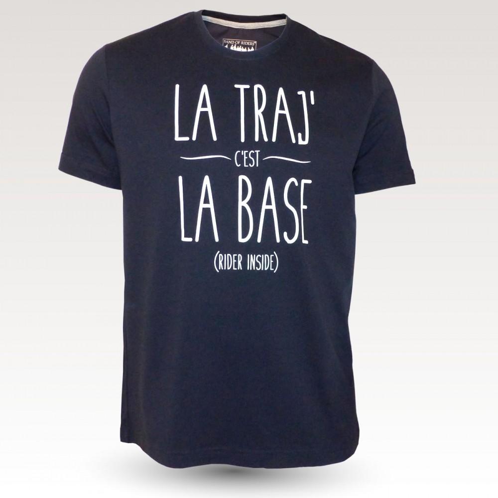 Tee-shirt coton VTT : Band of Riders La Traj navy