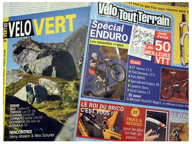 Maillots VTT Band of Riders dans la presse