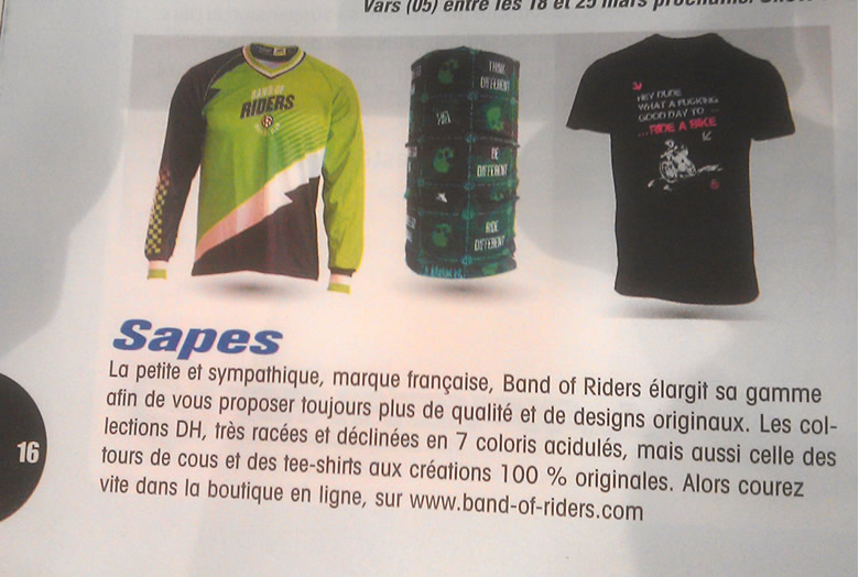 Band of Riders dans Bike Magazine Mars 2015