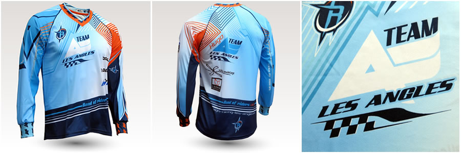 Maillot VTT DH Team Les Angles