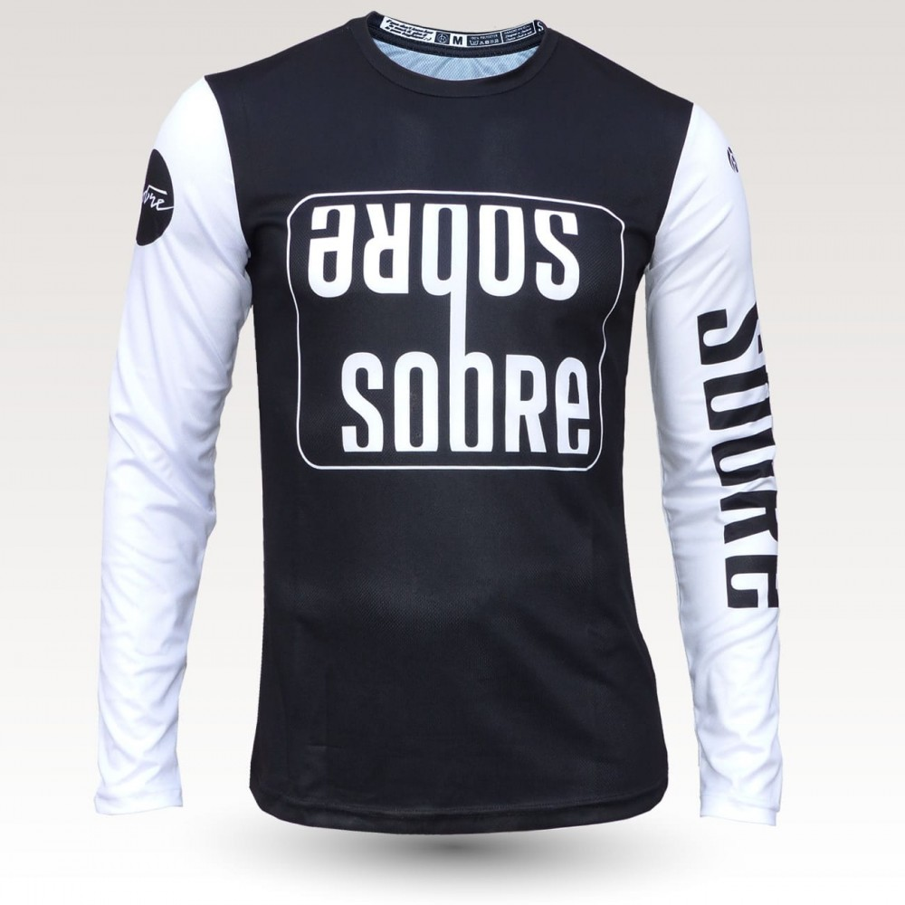 Sobre jersey, short sleeves MTB Jersey, sublimated with zip and pocket, technical fabric jersey, confortable mtb jersey