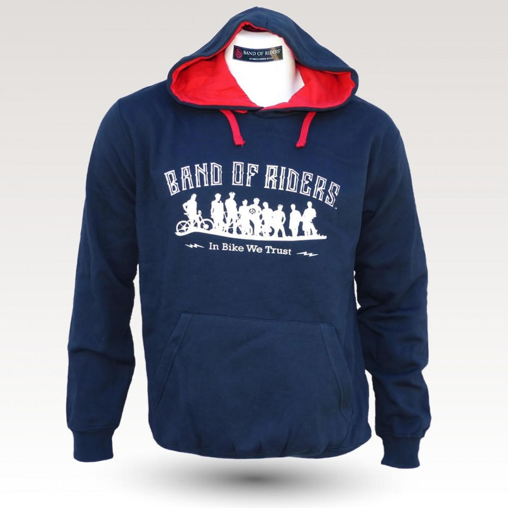 Sweat shirt VTT Band of Riders Normandy Navy blanc rouge