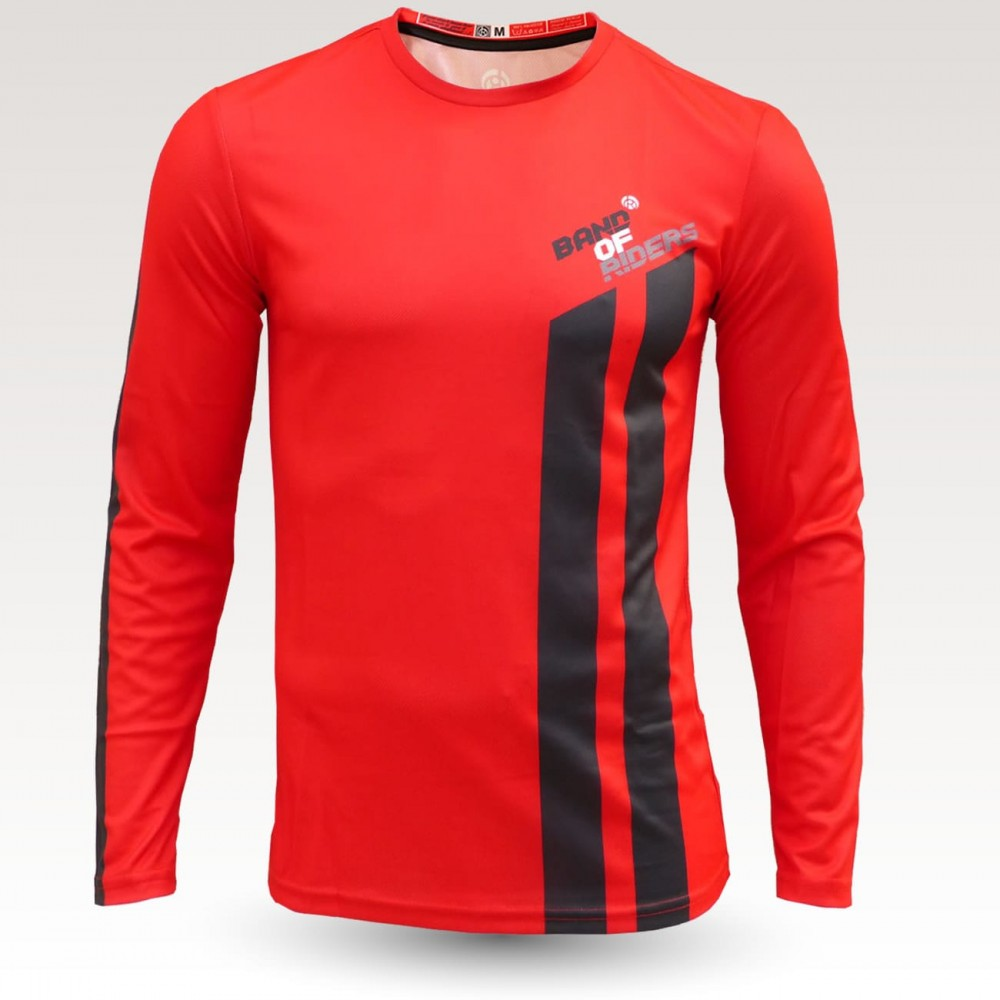 redneck jersey, long sleeve MTB Jersey, sublimated with zip and pocket, technical fabric jersey, confortable mtb jersey