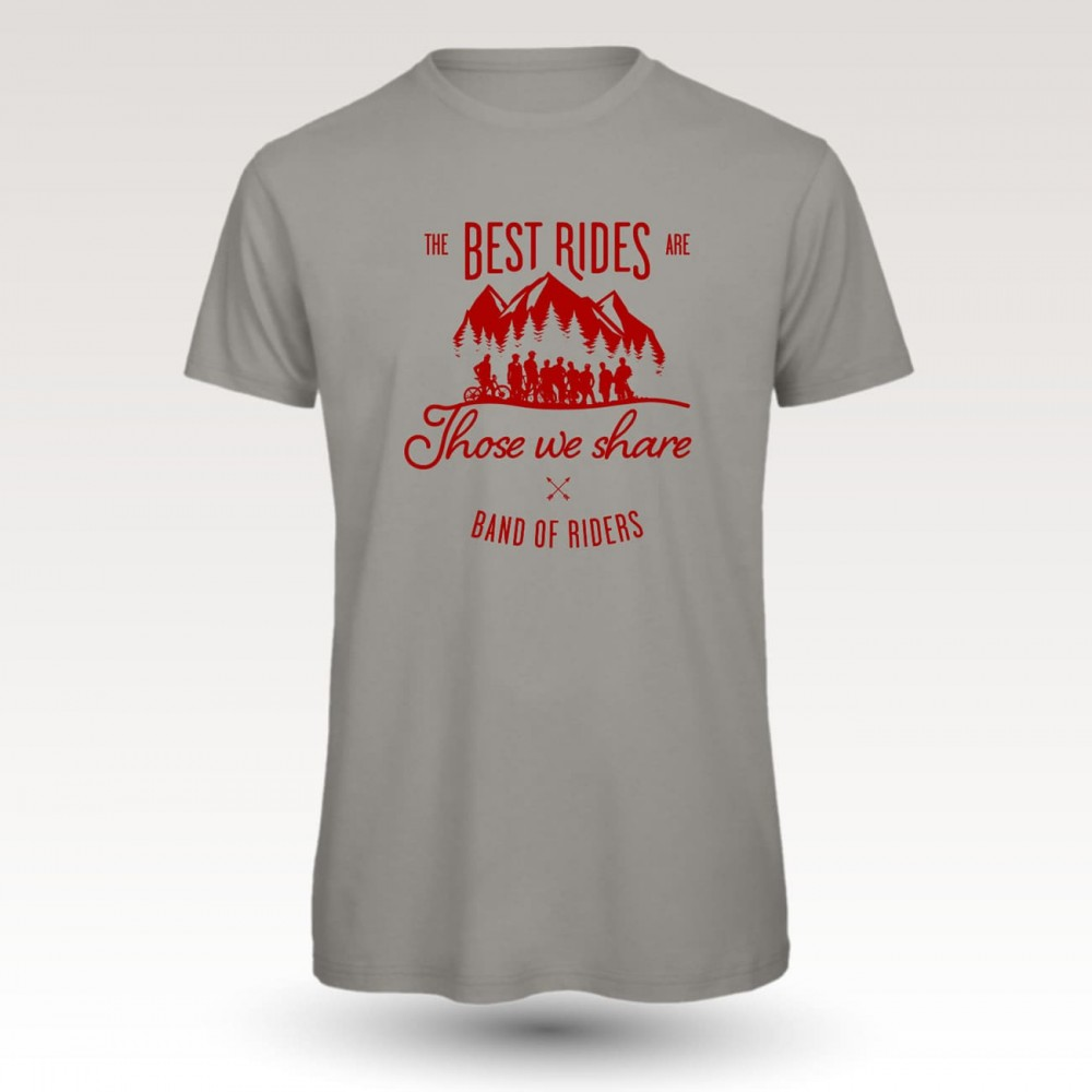 Tee-shirt coton VTT : Band of Riders best rides lgrey