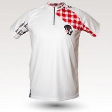 Maillot Racing pig, maillot VTT rando original à manches courtes sublimé avec zip et poche, maillot fibre technique, coupe ultra confort VTT