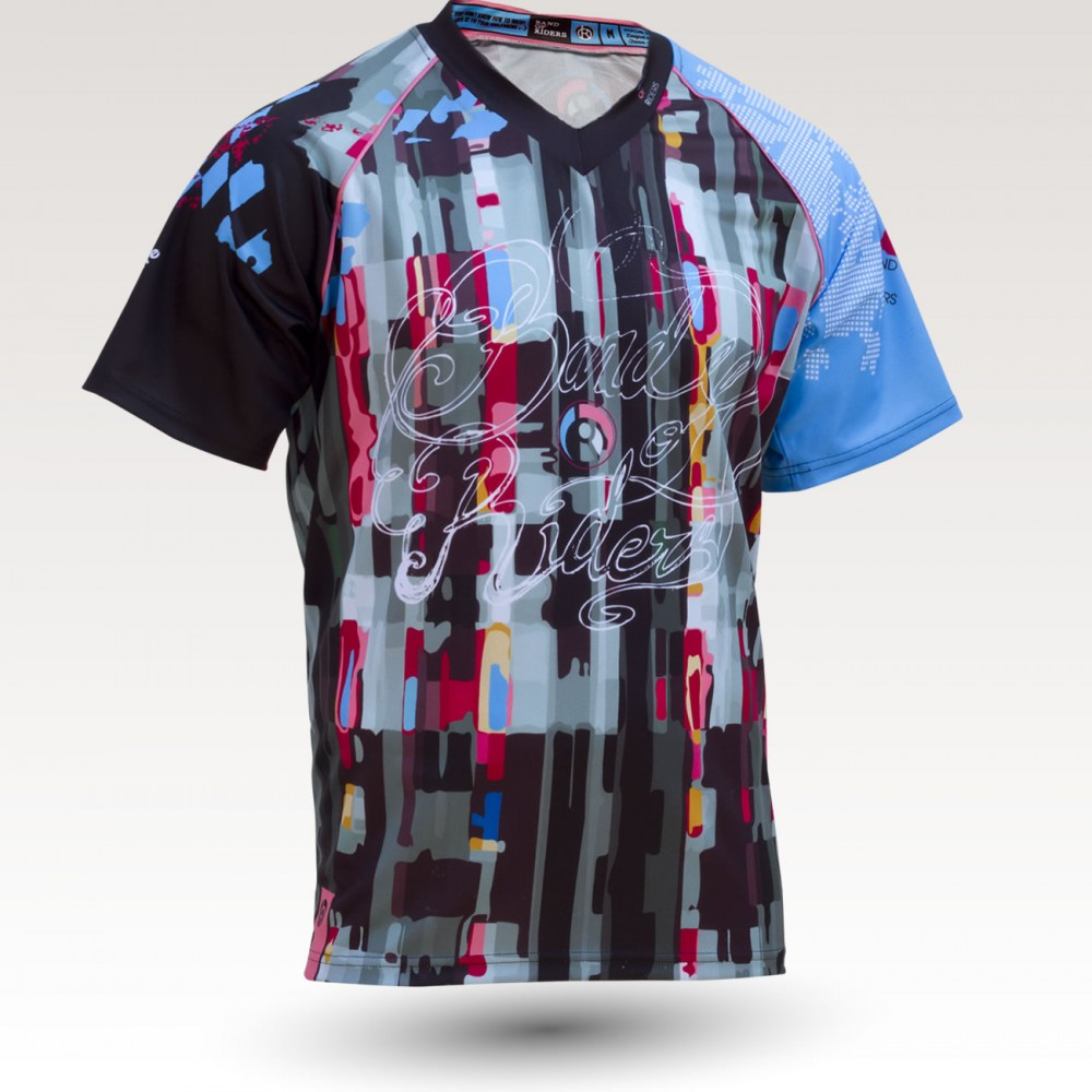 Psyché MC is an Original Mountain Biking Jersey designed by Band of Riders. Short sleeve, technical fabric and most comfortable jersey for enduro and downhill cycling