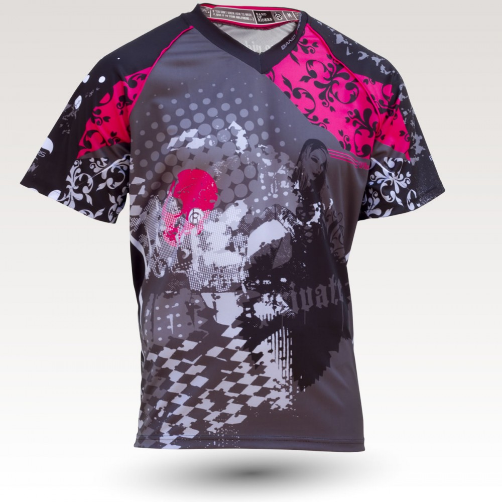 Trashy MC is an Original Mountain Biking Jersey designed by Band of Riders. Short sleeve, technical fabric and most comfortable jersey for enduro and downhill cycling