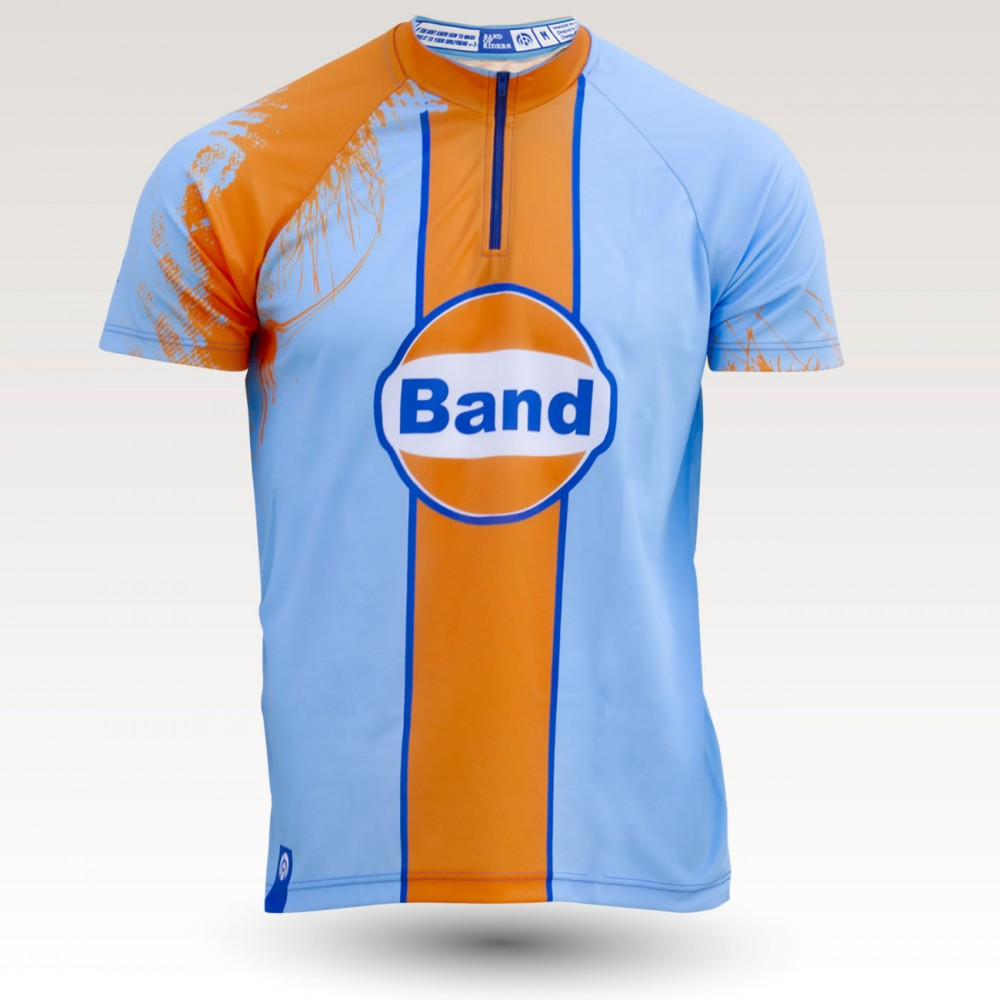 Le Mans jersey, short sleeves MTB Jersey, sublimated with zip and pocket, technical fabric jersey, confortable mtb jersey