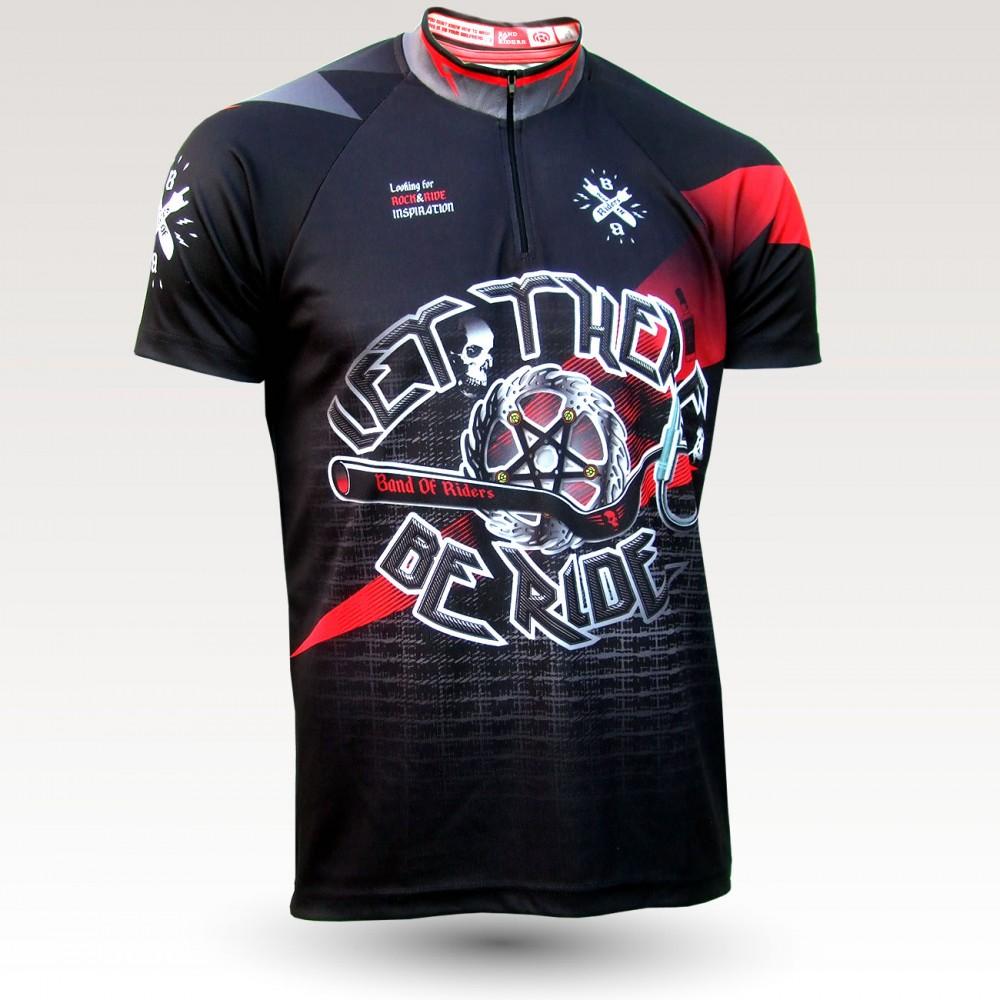 Maillot VTT rock heavy metal, maillot VTT enduro dh original à manches courtes sublimé, maillot fibre technique, coupe ultra confort VTT