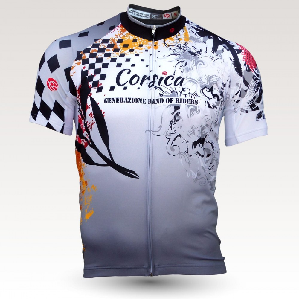 Corsica jersey, short sleeves original cycling jersey, technical fabric jersey, most confortable cyclist  jersey