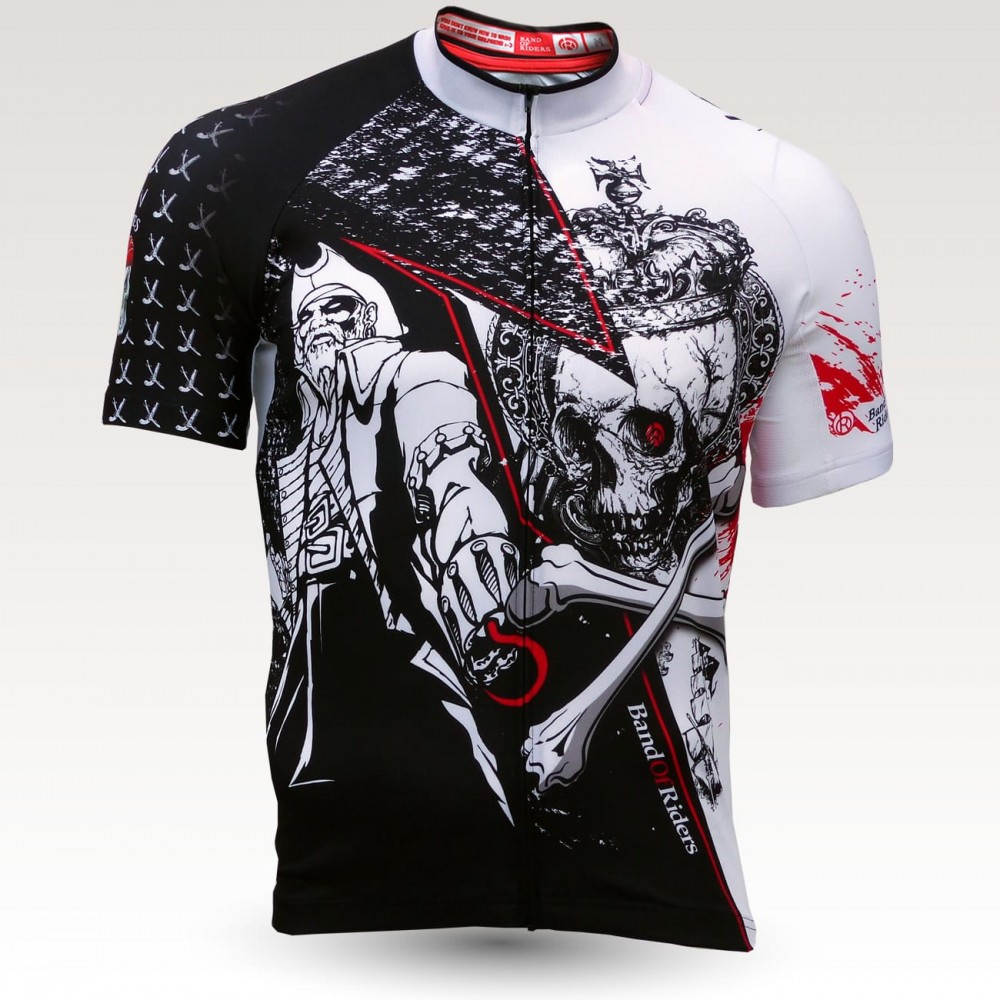 pirates jersey, short sleeves original cycling jersey, technical fabric jersey, most confortable cyclist  jersey